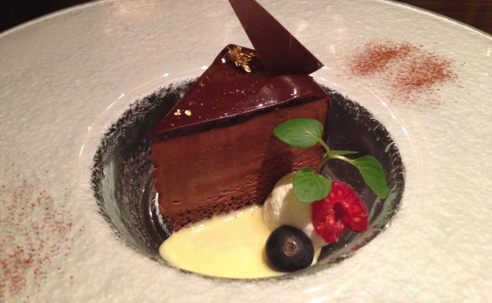 The chocolate dessert