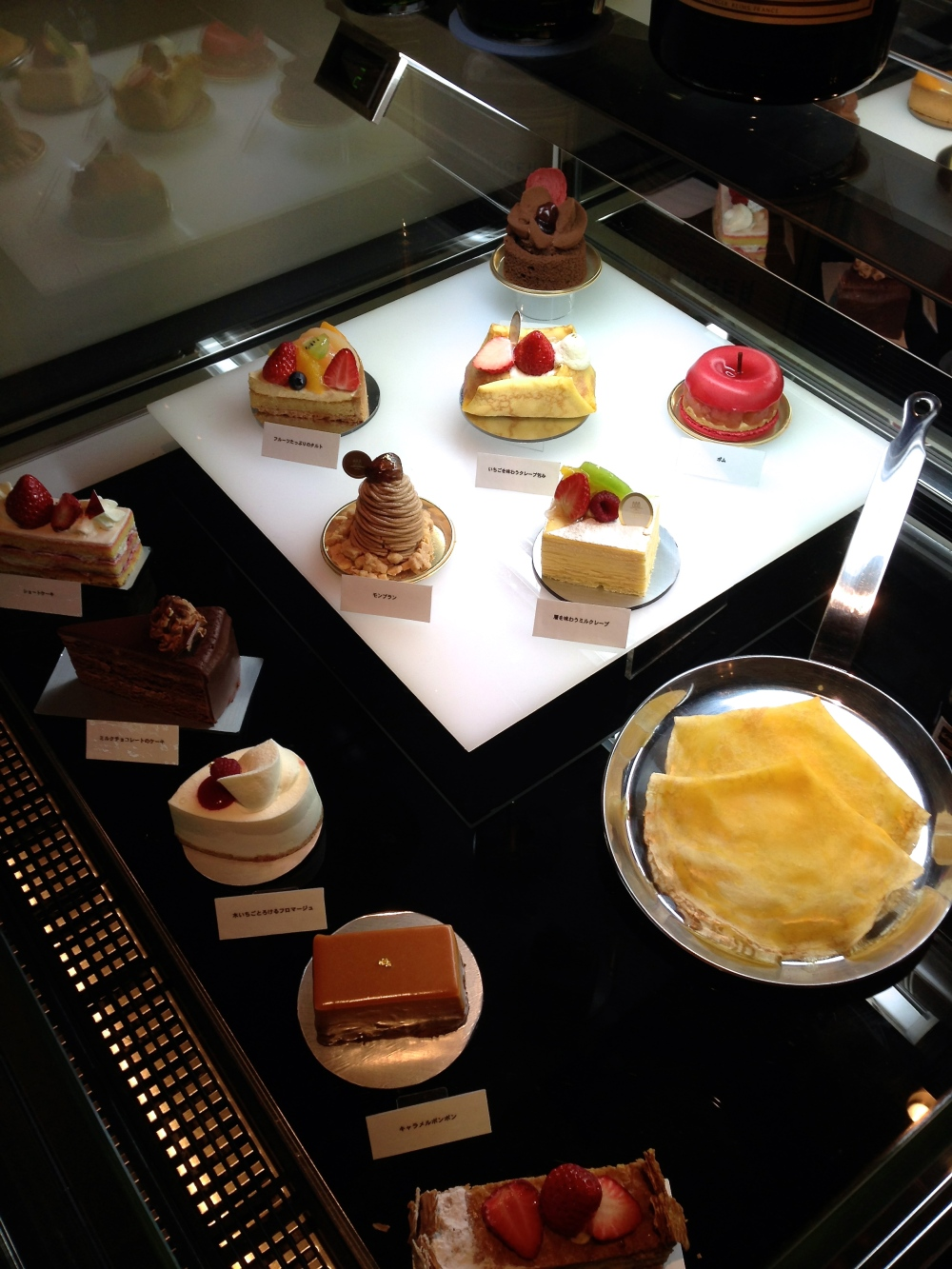 The pastry display