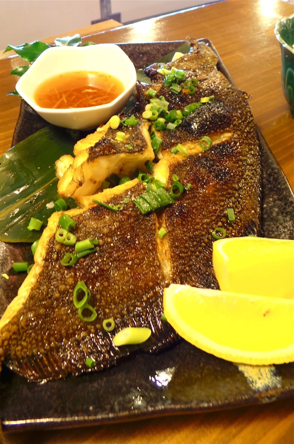 A delicious fried sole fish