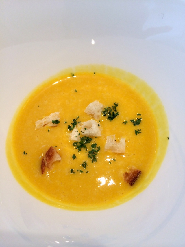 Warm pumpkin potage