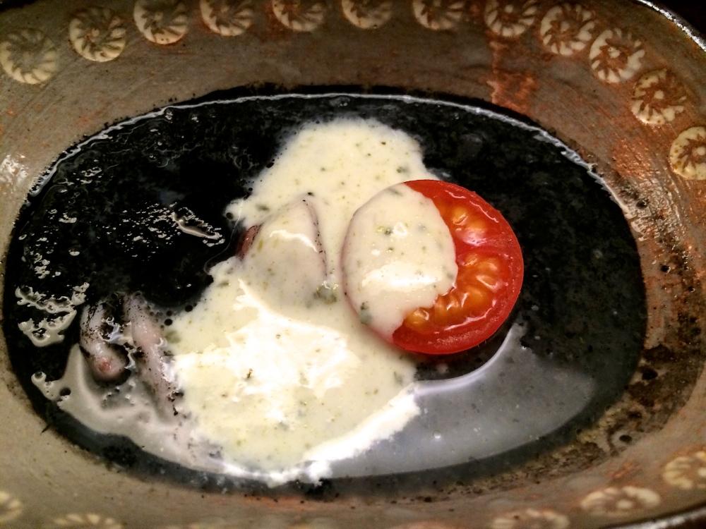 Squid ink dish